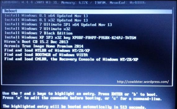 Foto multiboot harddisk eksternal
